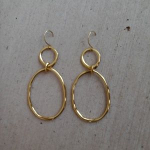 Chloe and Isabel Organic Open Link Earrings, Gold